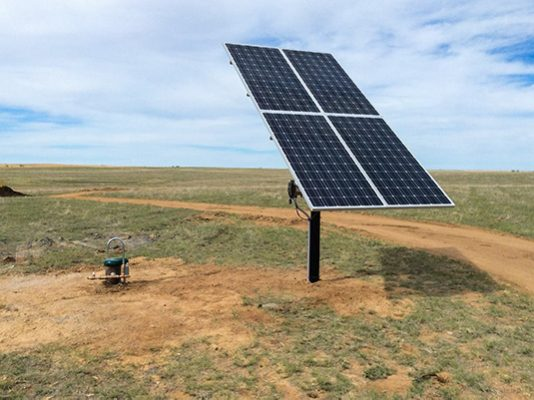 Barnhart Pump Co. water well pump company Colorado solar pump
